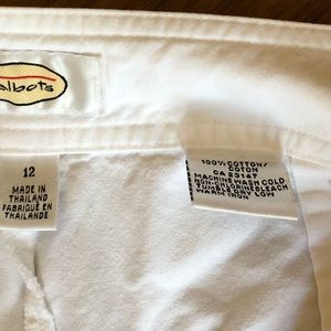 Talbots Pants - White Talbots pants 100 % cotton